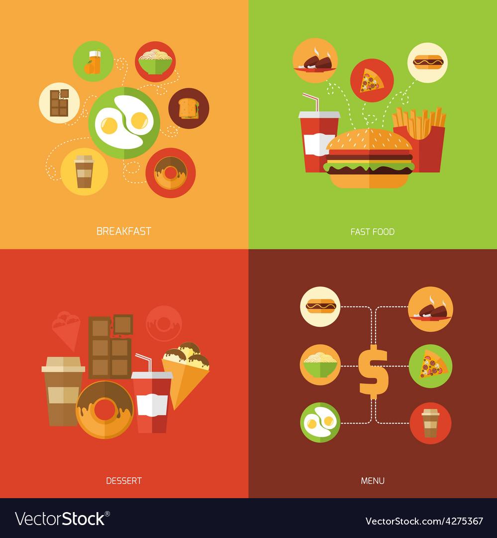 Fast food design concept vector | Price: 1 Credit (USD $1)