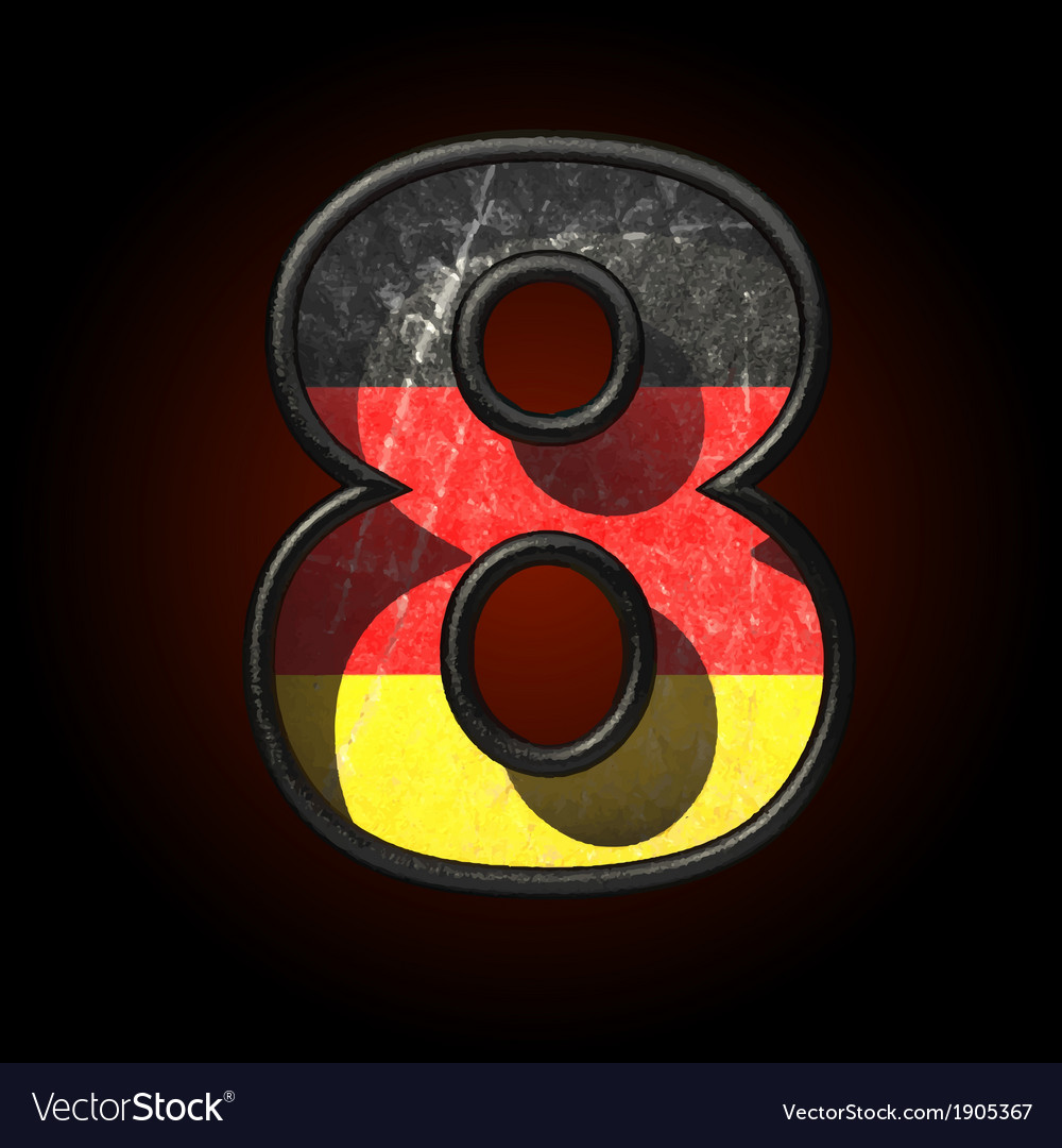 Germany cutted figure 8 vector | Price: 1 Credit (USD $1)