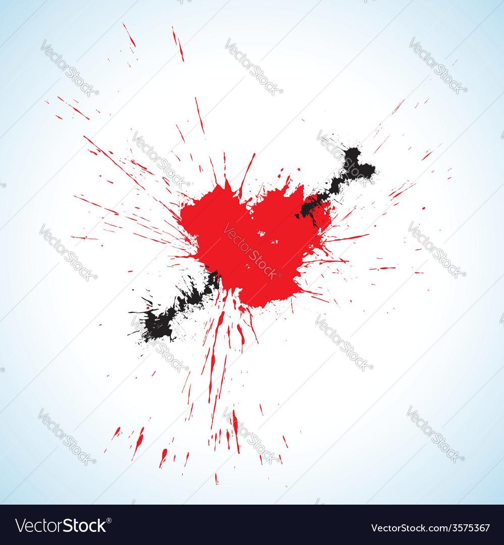 Heart and arrow blots vector | Price: 1 Credit (USD $1)