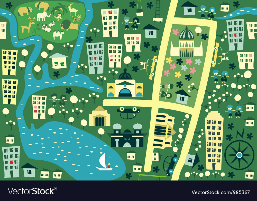 Seamless map of melbourne australia vector | Price: 1 Credit (USD $1)