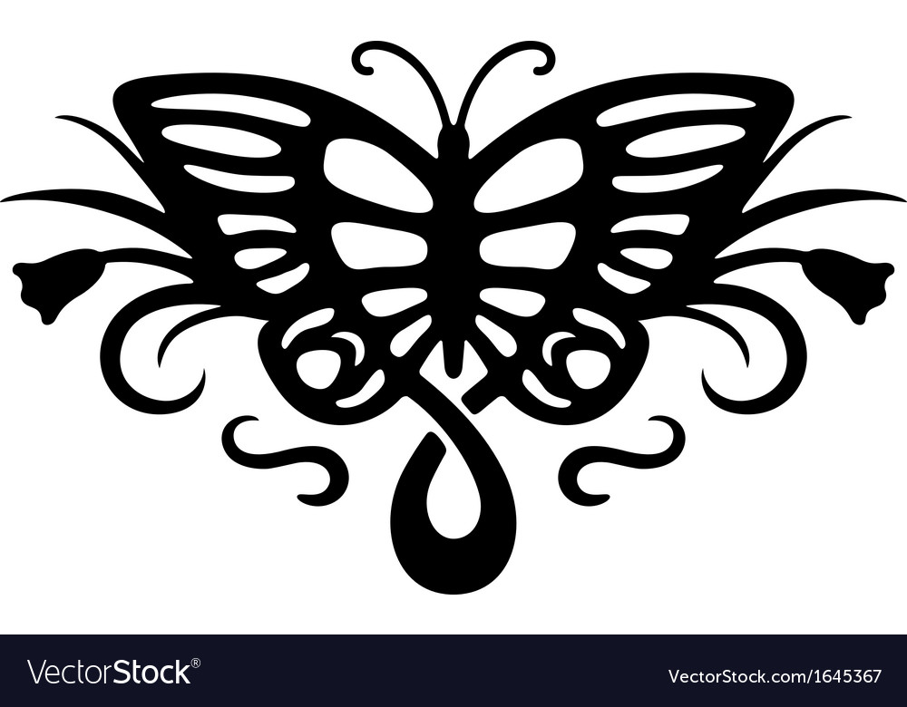 Tattoo butterfly vector | Price: 1 Credit (USD $1)