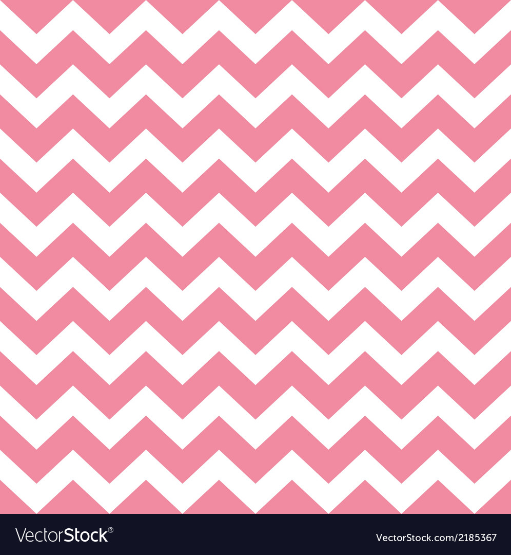 Zigzag pattern in baby pink isolated on white vector