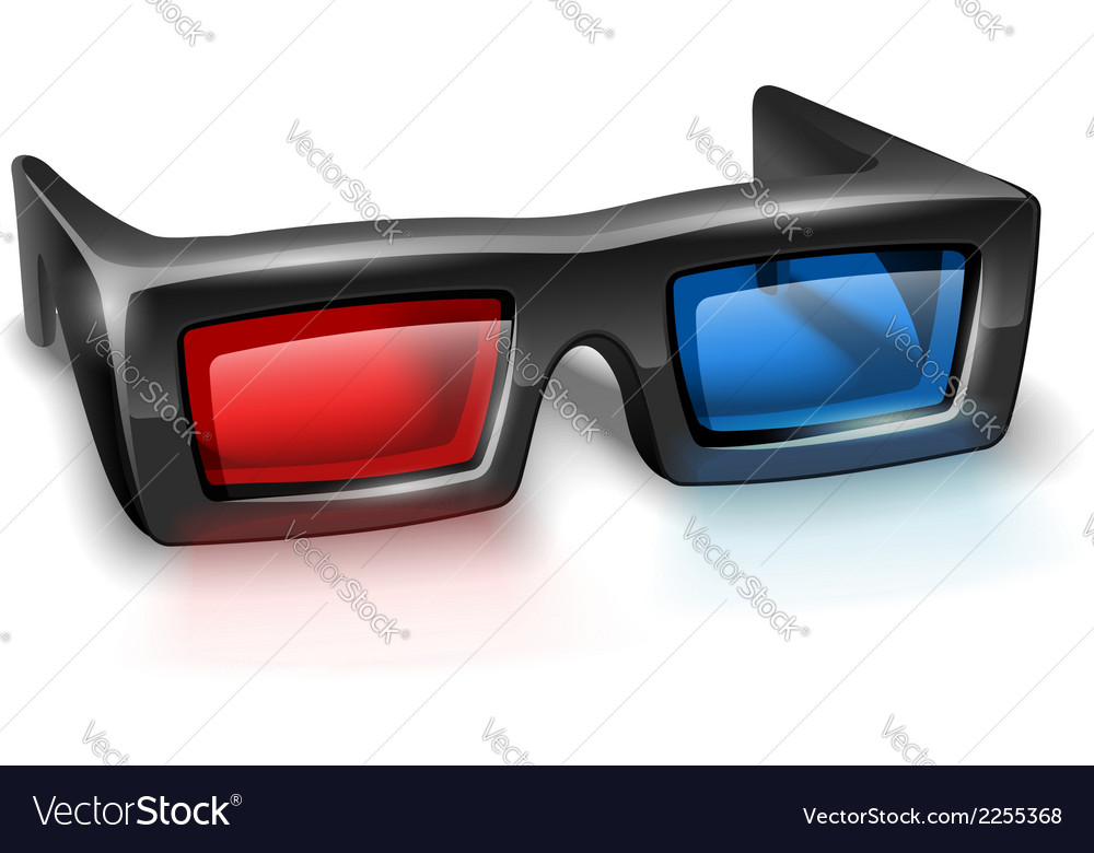 3d glasses for watching vector | Price: 1 Credit (USD $1)