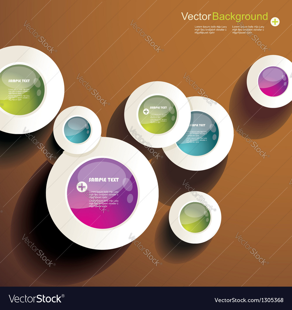 Abstract 3d circles background design vector   Price: 1 Credit (USD $1)