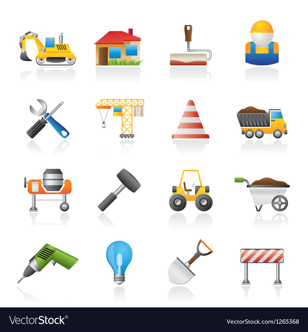 Building and construction icons vector | Price: 3 Credit (USD $3)