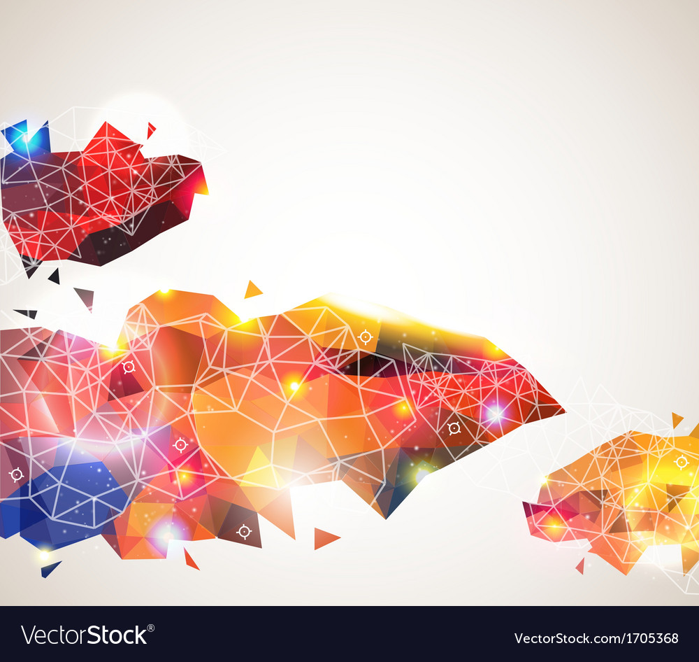 Colorful and glossy geometric pattern vector | Price: 1 Credit (USD $1)
