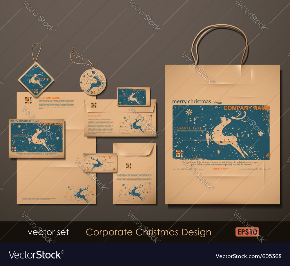 Corporate christmas design vector | Price: 5 Credit (USD $5)