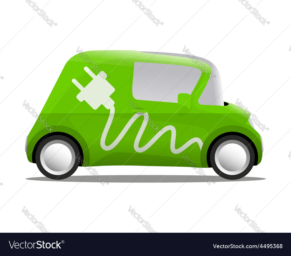 Electro car cartoon safe ecology vector   Price: 1 Credit (USD $1)
