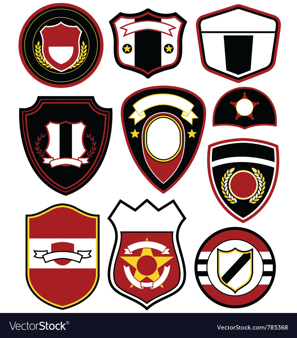 Emblem badge set vector   Price: 1 Credit (USD $1)