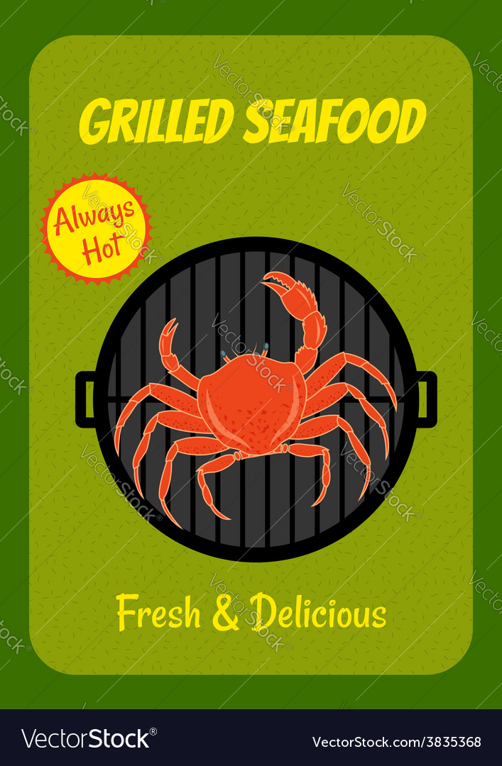 Grilled crab vector | Price: 1 Credit (USD $1)