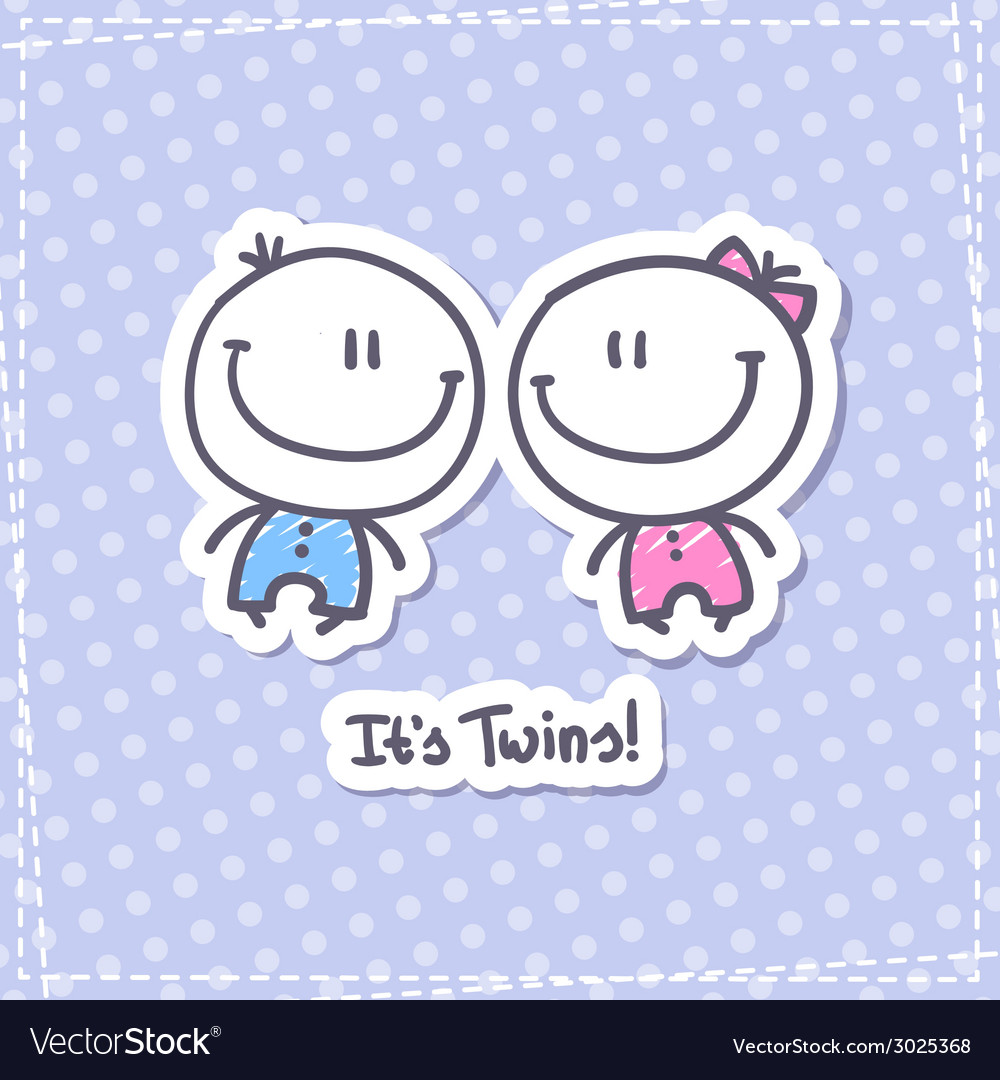 Its twins vector | Price: 1 Credit (USD $1)