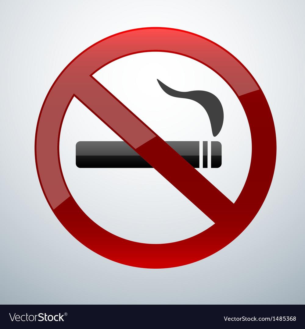No smoking vector | Price: 1 Credit (USD $1)