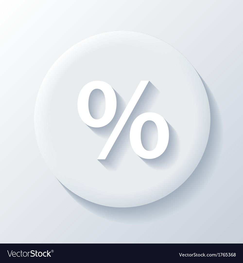 Percent paper icon vector | Price: 1 Credit (USD $1)