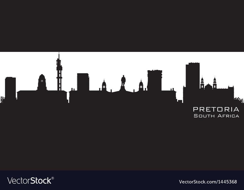 Pretoria south africa skyline detailed silhouette vector   Price: 1 Credit (USD $1)
