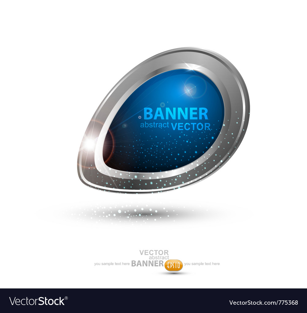 Round metal banner vector | Price: 1 Credit (USD $1)