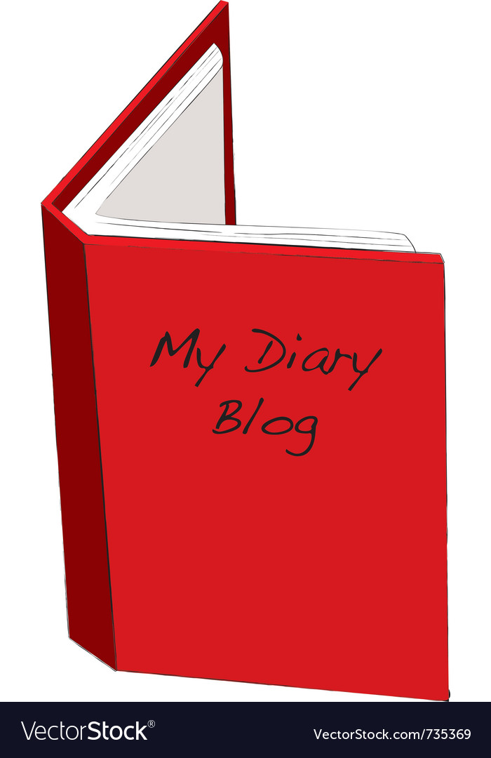 Blog diary concept vector | Price: 1 Credit (USD $1)