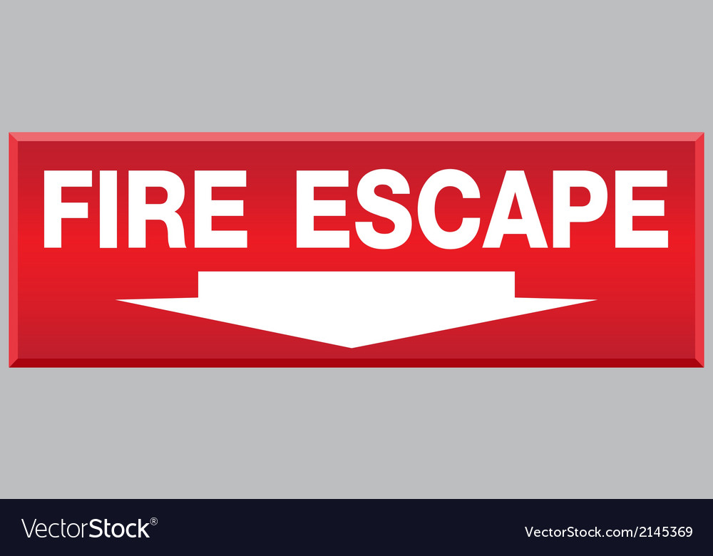 Fire escape sign vector | Price: 1 Credit (USD $1)
