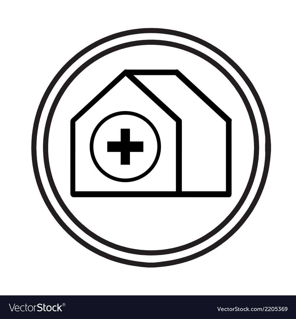 Hospital building symbol vector | Price: 1 Credit (USD $1)