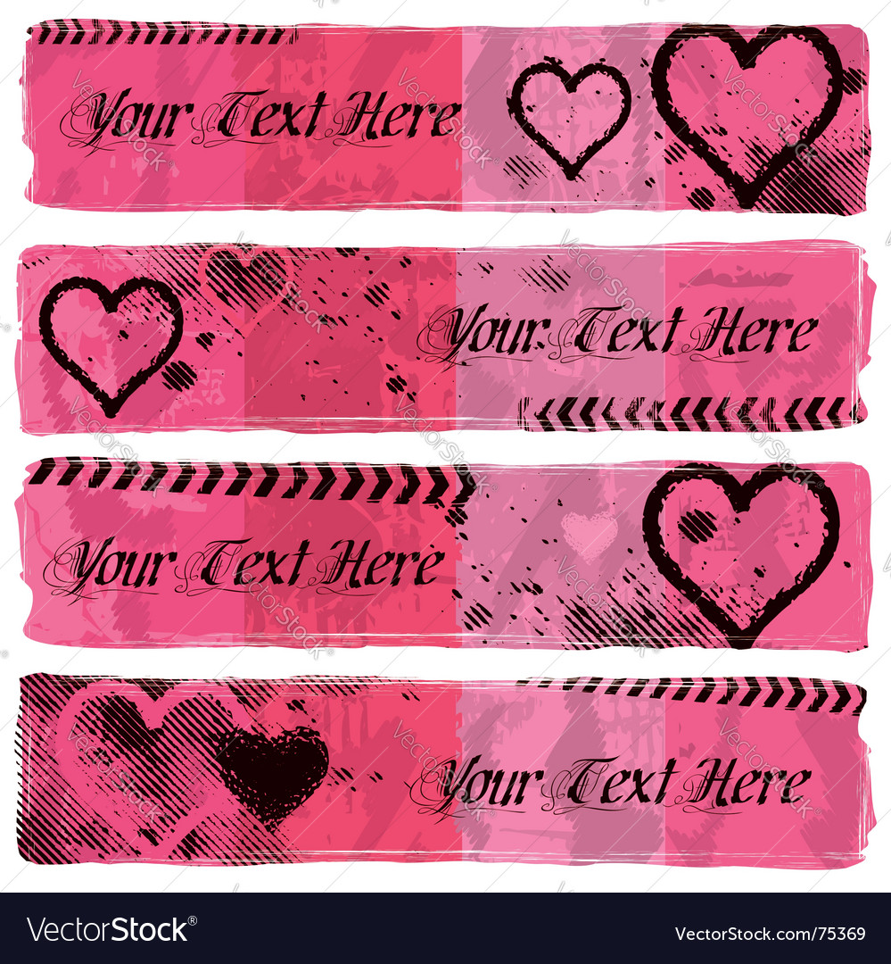 Love banners vector | Price: 1 Credit (USD $1)