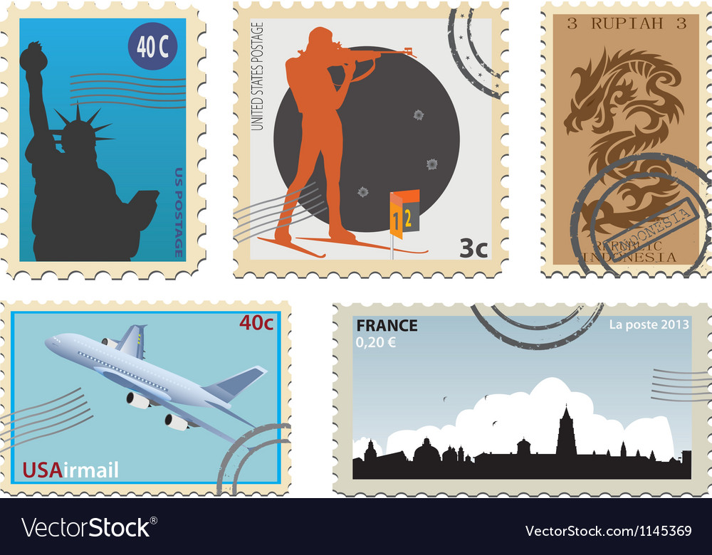Stamps vector   Price: 1 Credit (USD $1)