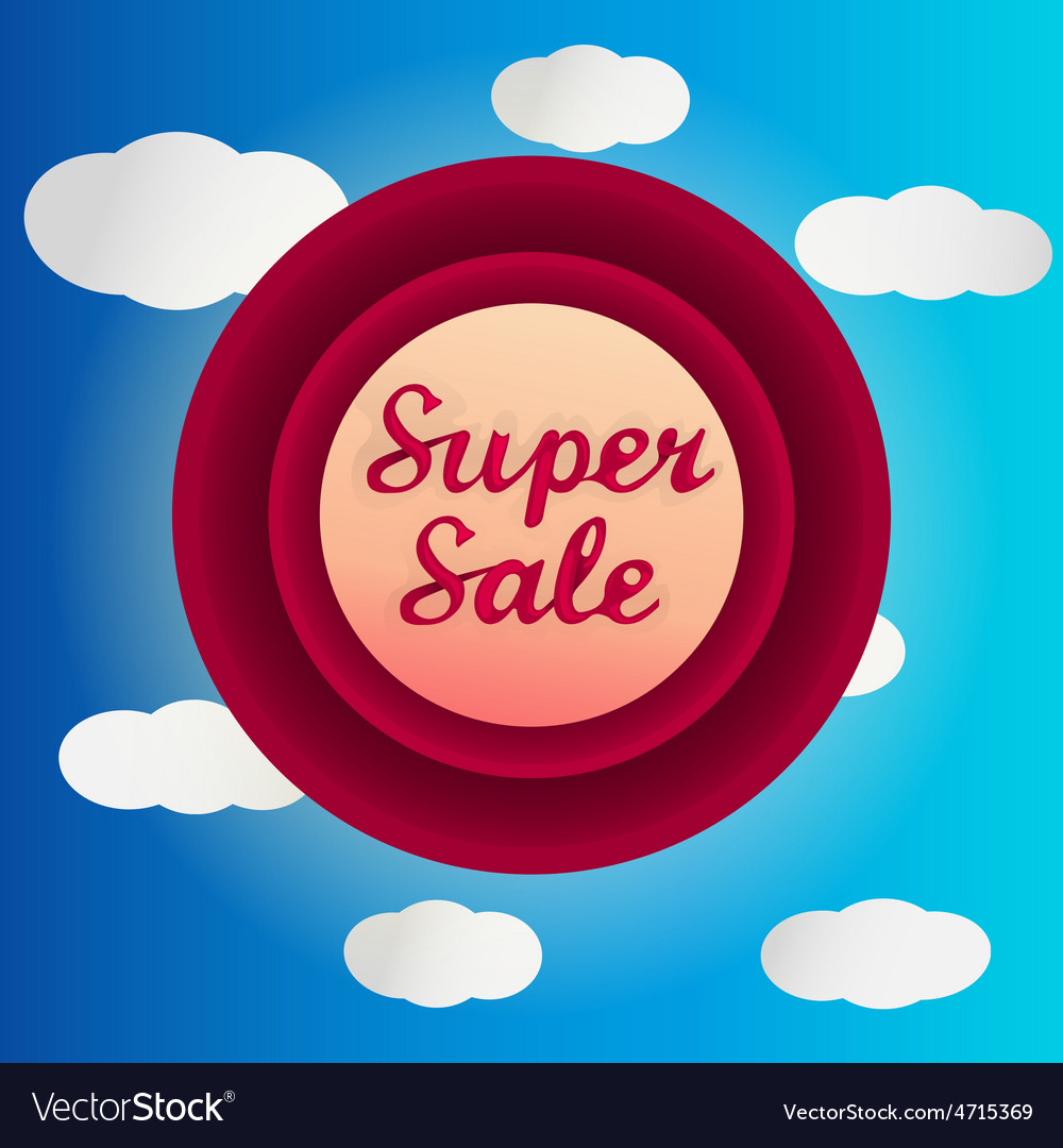 Super sale circle label vector | Price: 1 Credit (USD $1)