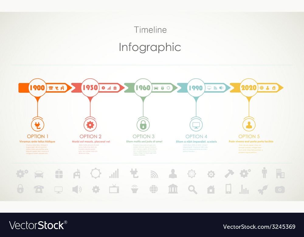 Timeline infographic vector | Price: 1 Credit (USD $1)