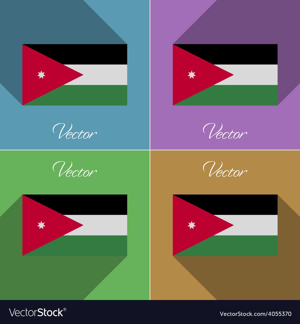 Flags jordan set of colors flat design and long vector | Price: 1 Credit (USD $1)