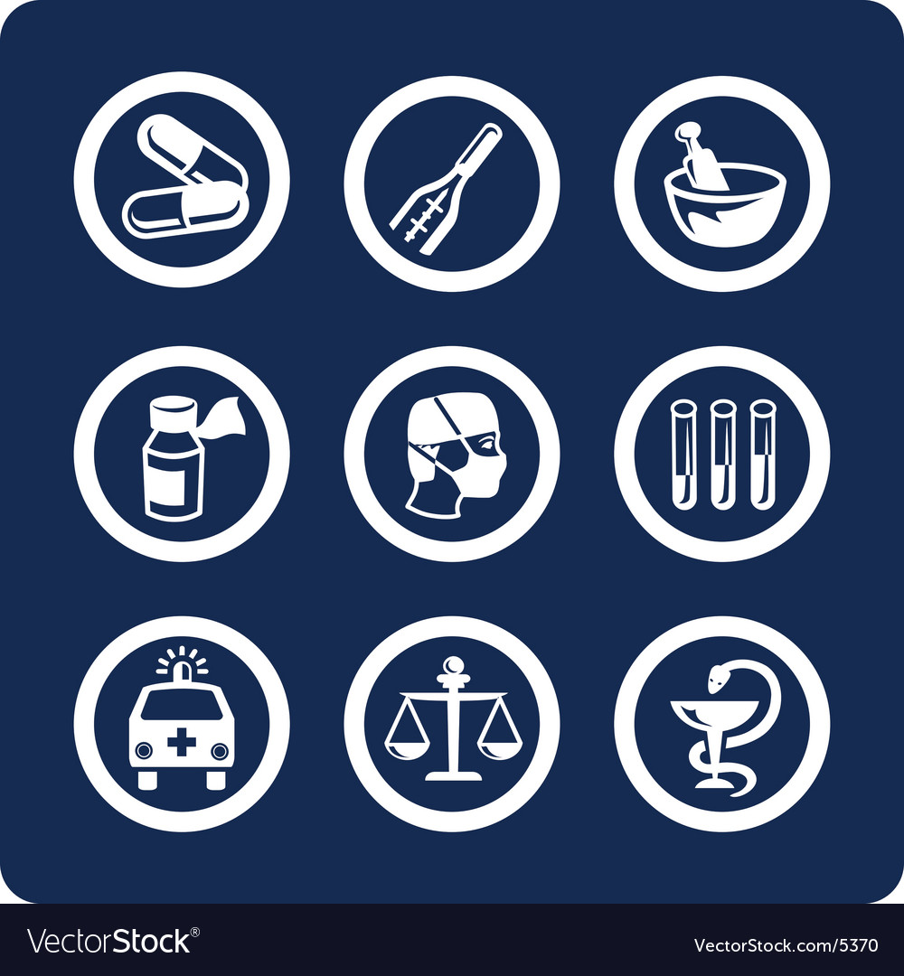 Medicine and health icons vector | Price: 1 Credit (USD $1)