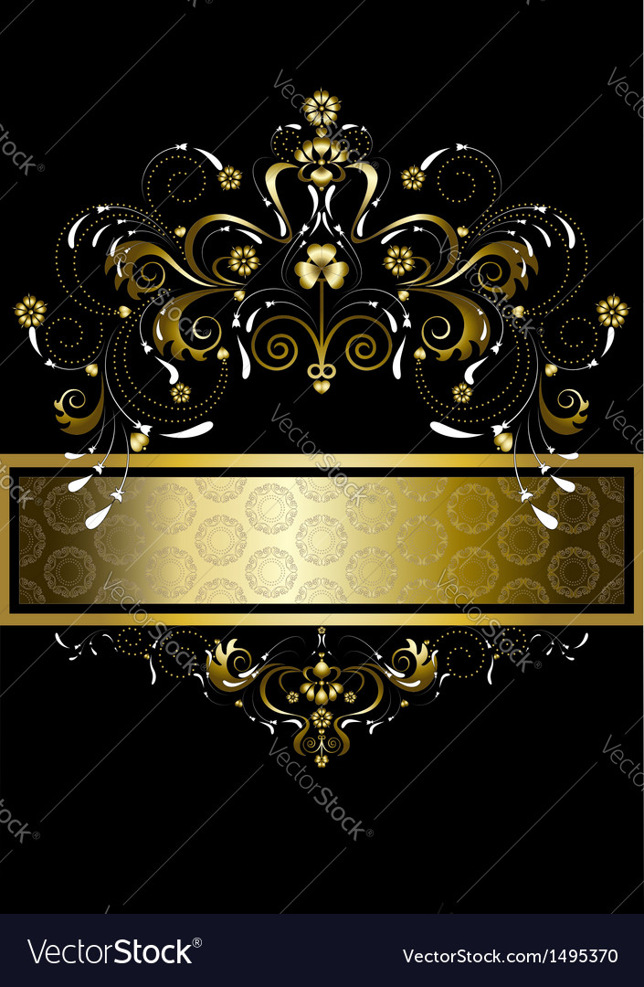 Original gold pattern for banner vector | Price: 1 Credit (USD $1)