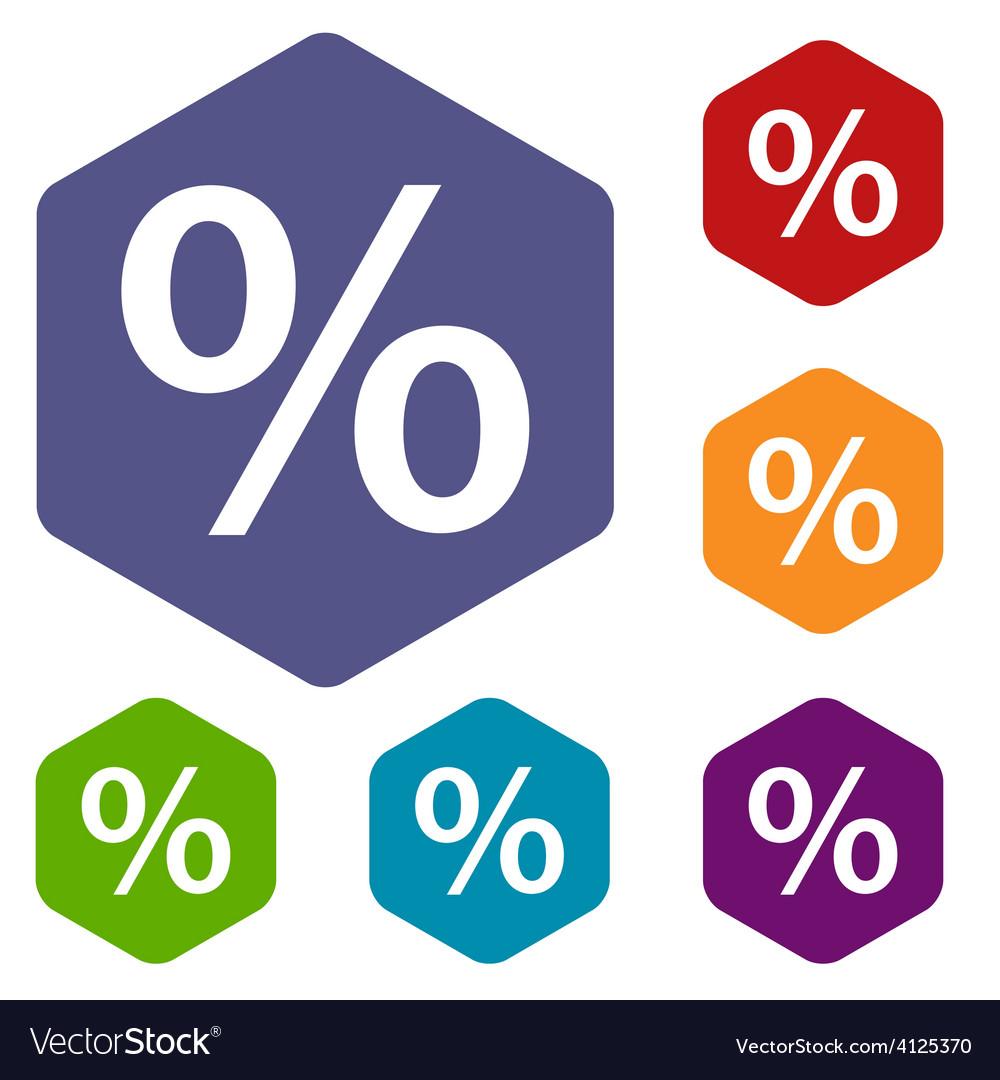 Percent rhombus icons vector | Price: 1 Credit (USD $1)