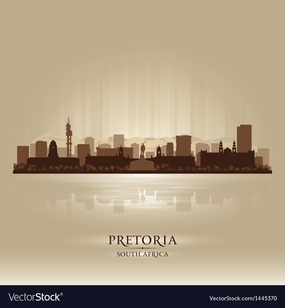 Pretoria south africa city skyline silhouette vector | Price: 1 Credit (USD $1)