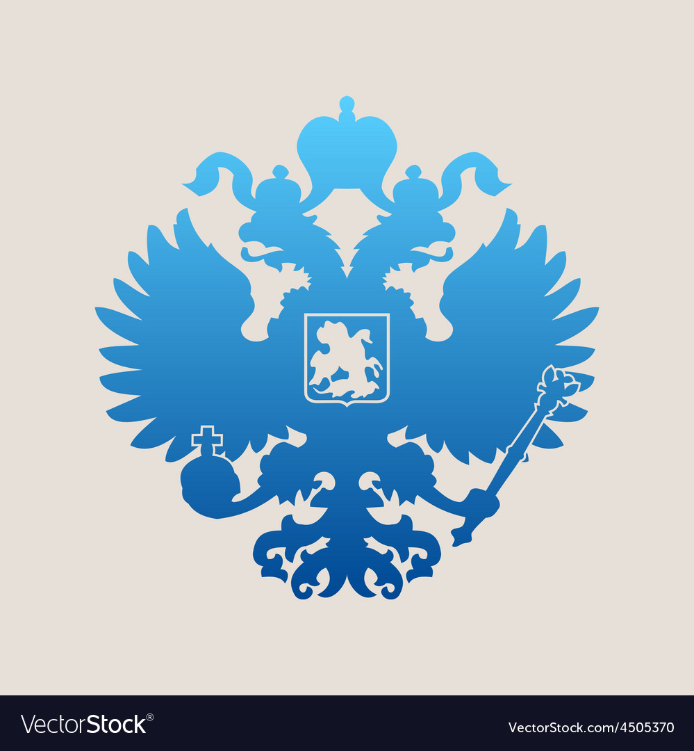 Russian coat of arms double-headed eagle emblem vector | Price: 1 Credit (USD $1)