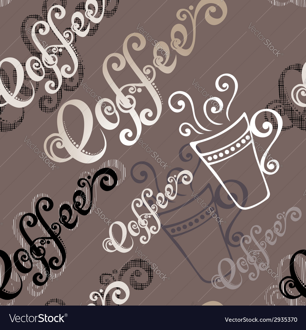 Seamless pattern with cups of coffee vector | Price: 1 Credit (USD $1)