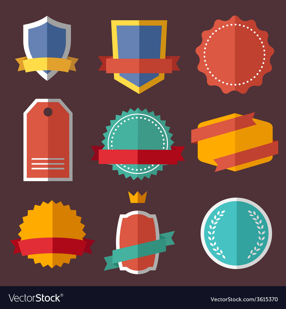 Set of retro vintage labels signs badges vector | Price: 1 Credit (USD $1)