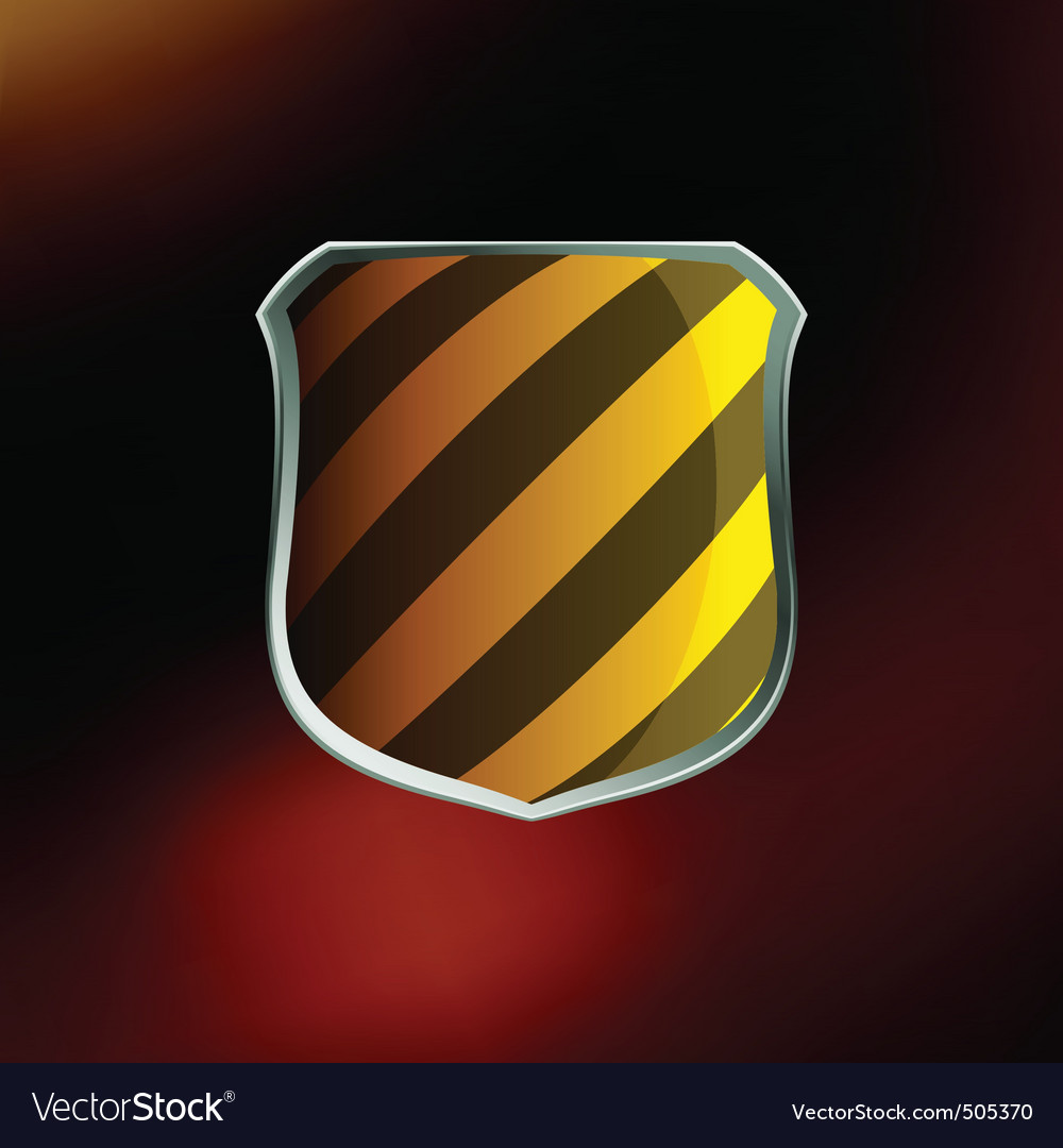 Shields in hazard black and yellow stripes eps 8 vector | Price: 1 Credit (USD $1)