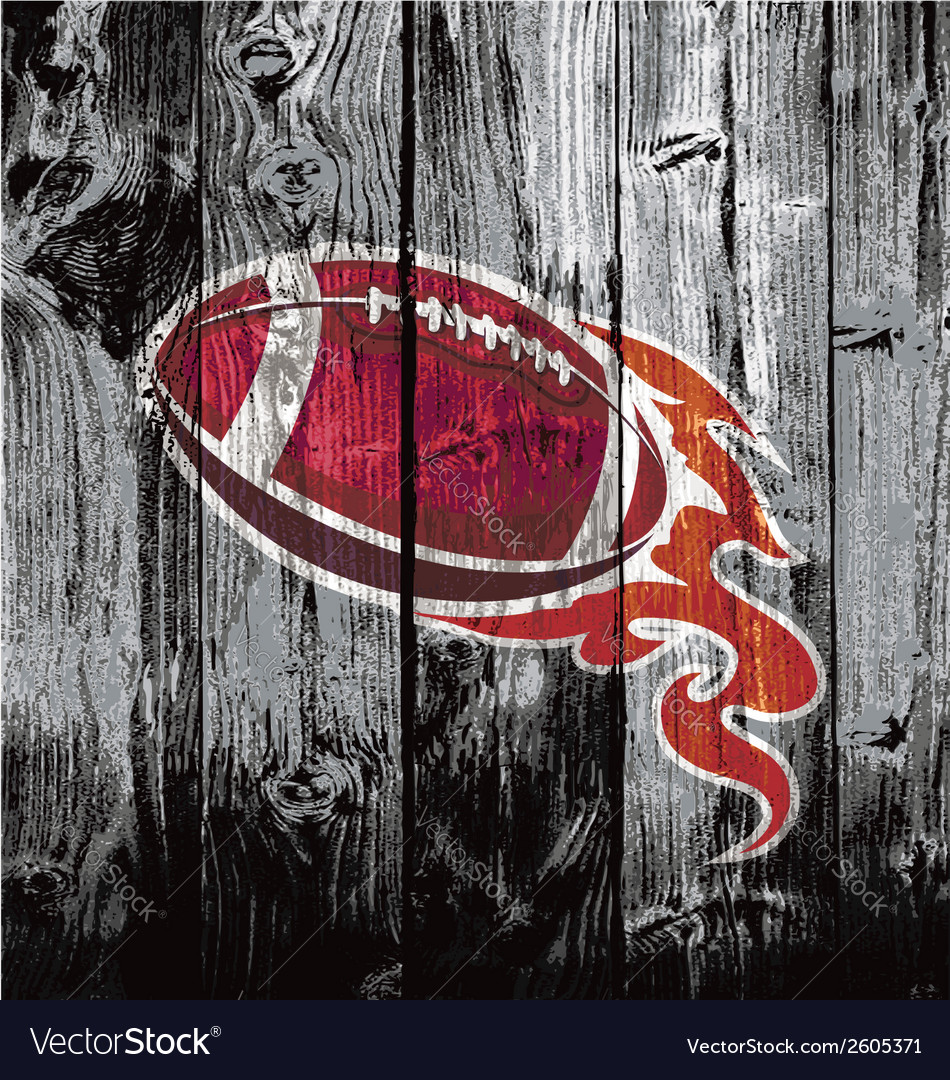 American football black woodboard vector | Price: 1 Credit (USD $1)