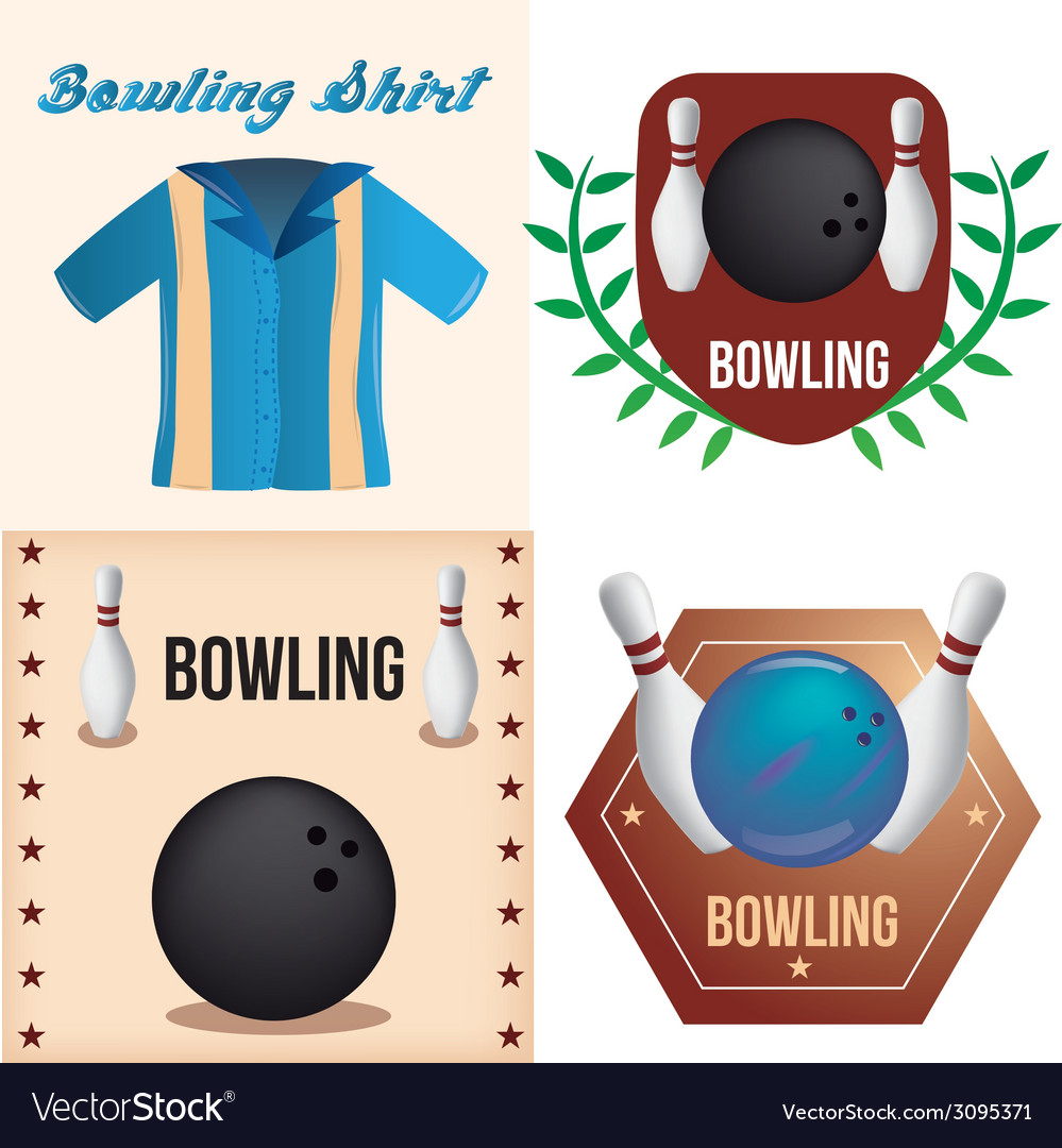 Bowling vector | Price: 1 Credit (USD $1)
