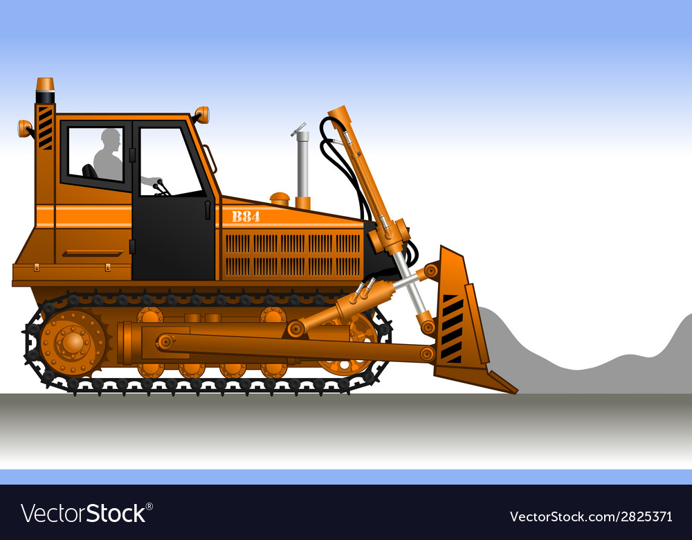 Bulldozer vector | Price: 1 Credit (USD $1)