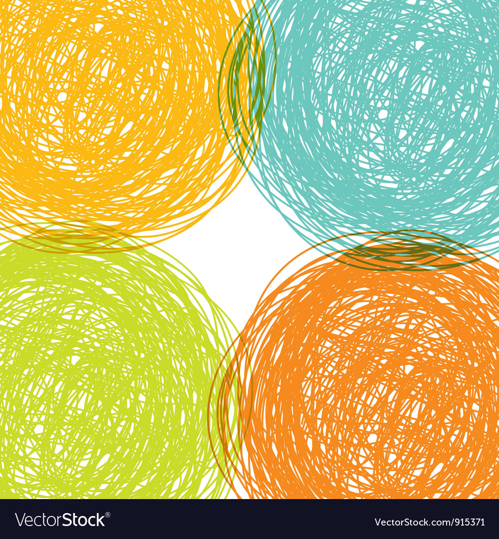 Colorful hand drawn background vector | Price: 1 Credit (USD $1)