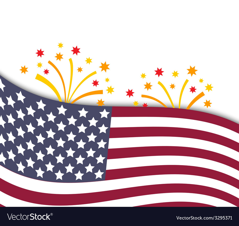 Colorful of independence day usa vector | Price: 1 Credit (USD $1)