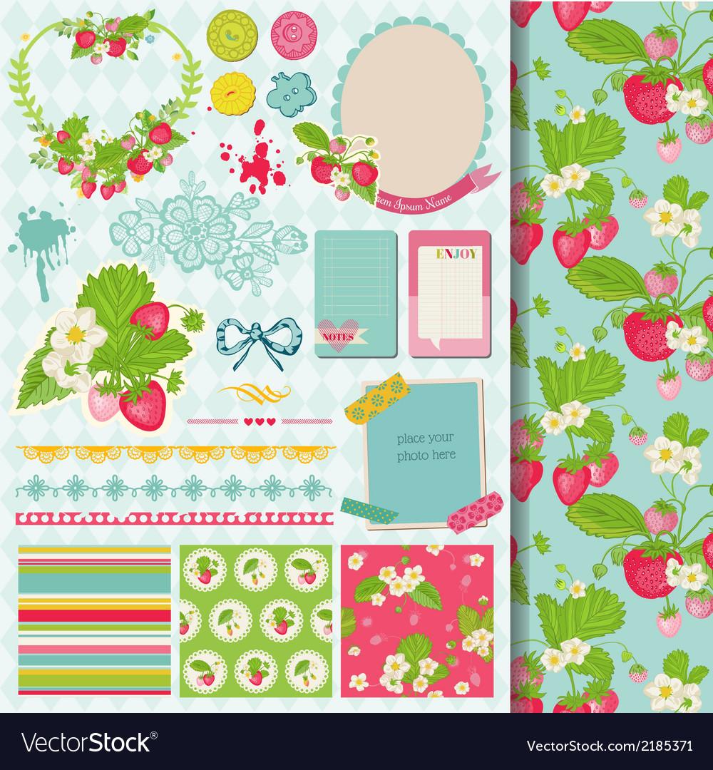 Design elements - strawberry vector | Price: 3 Credit (USD $3)