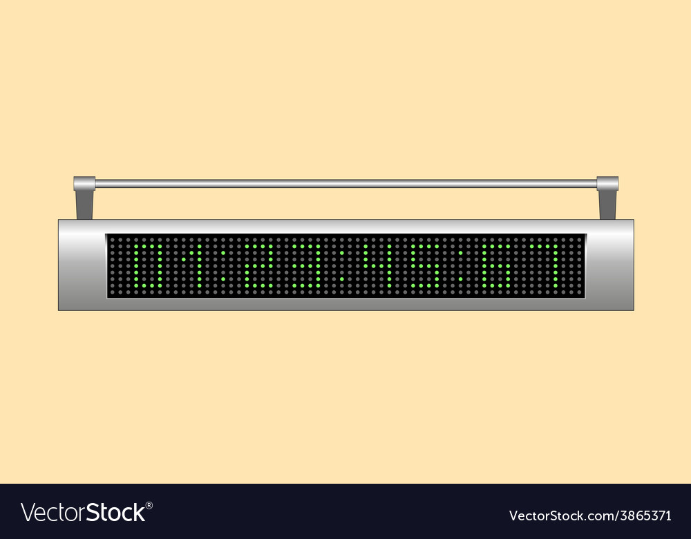Electronic scoreboard vector | Price: 1 Credit (USD $1)