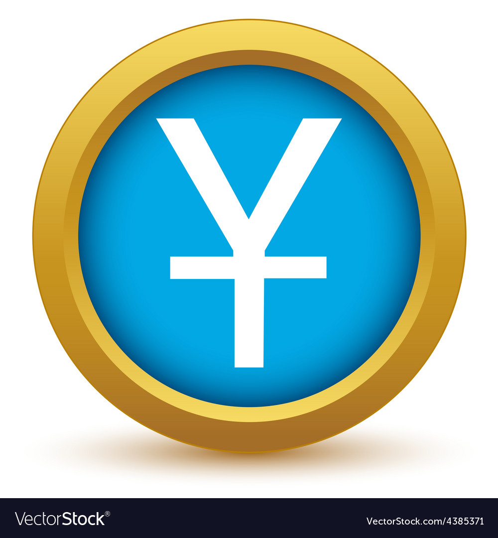 Gold currency yen icon vector | Price: 1 Credit (USD $1)