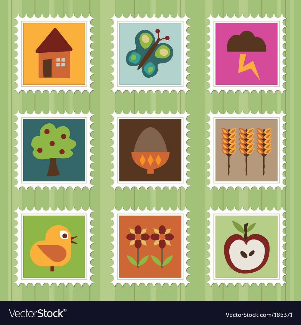 Nature stamps vector | Price: 1 Credit (USD $1)