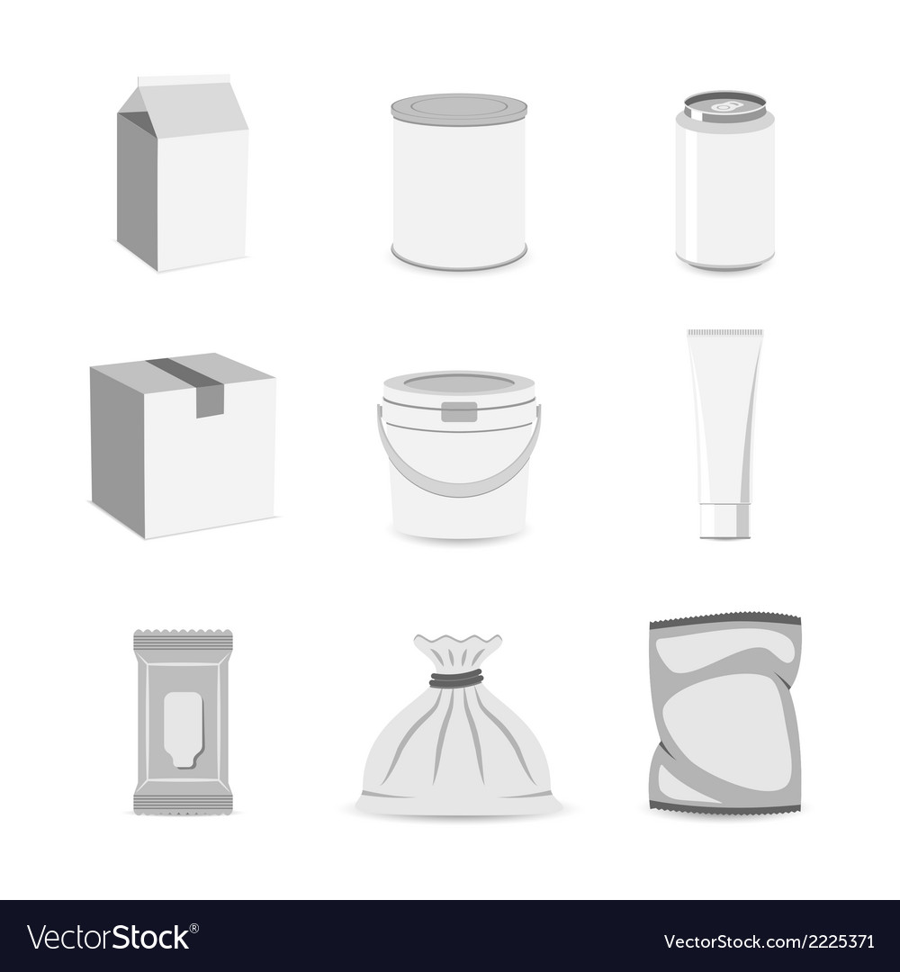 Pack container icon flat vector | Price: 1 Credit (USD $1)