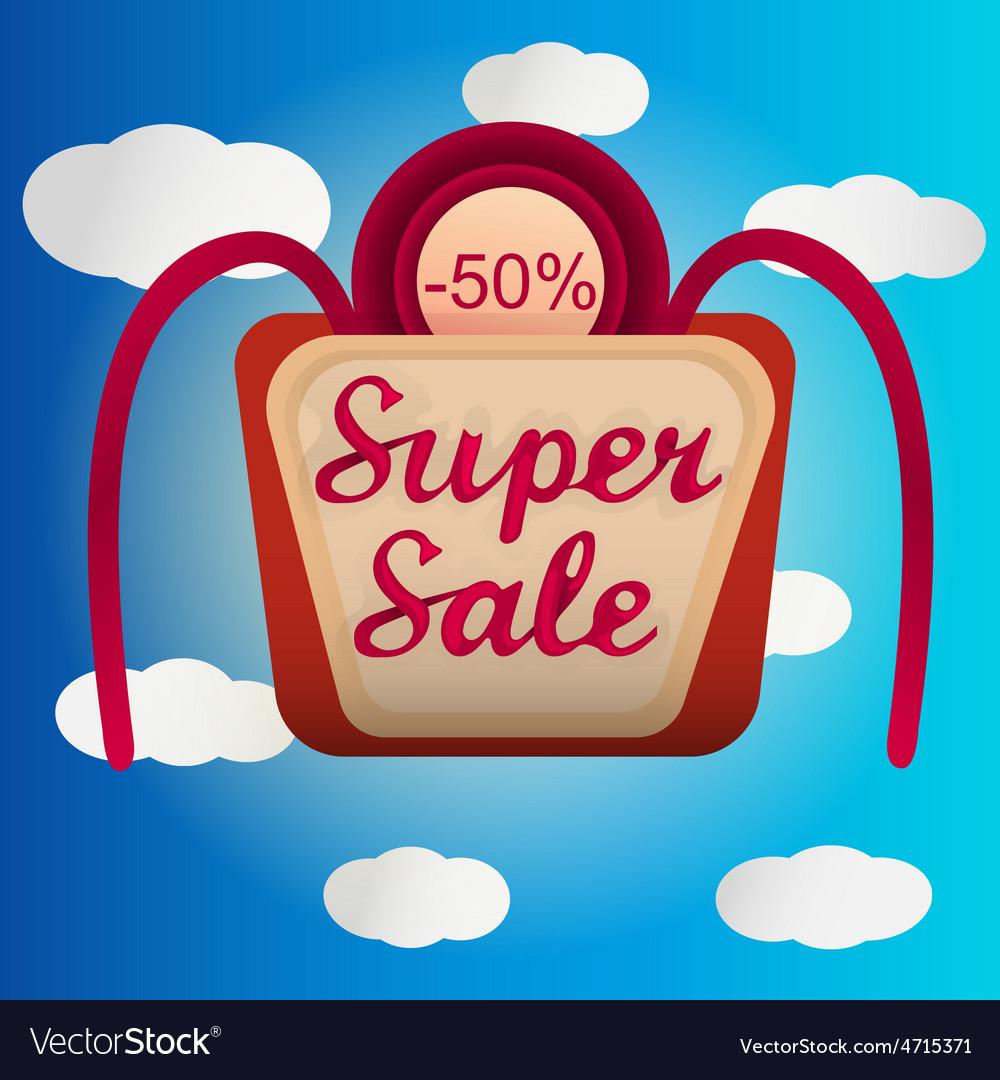 Super sale lable vector | Price: 1 Credit (USD $1)