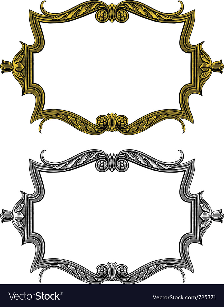 Vintage frame in engraved style vector | Price: 1 Credit (USD $1)