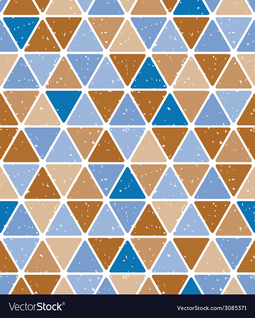 Vintage triangle tiles seamless pattern vector | Price: 1 Credit (USD $1)