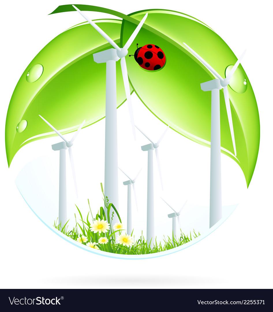 Wind power plant icon vector | Price: 1 Credit (USD $1)