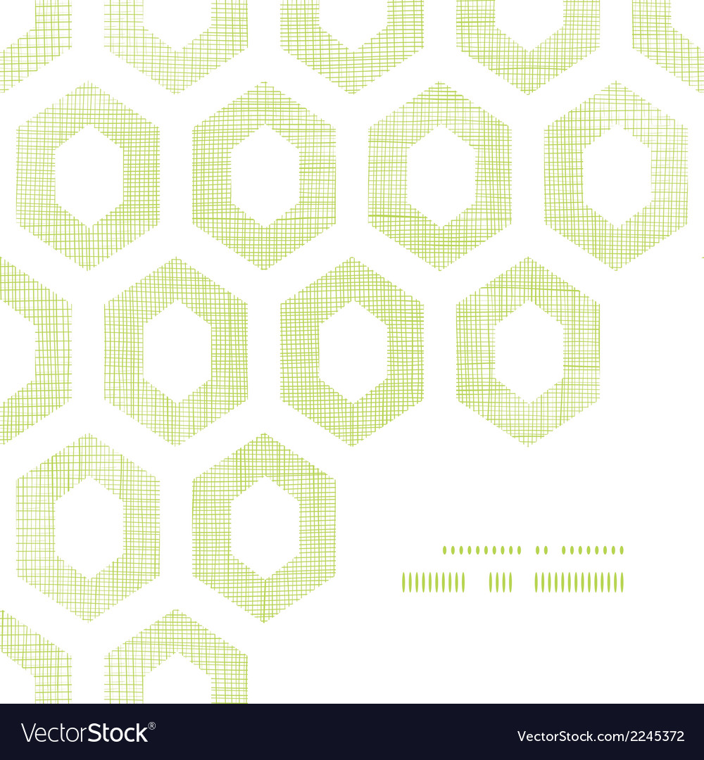 Abstract green fabric textured honeycomb cutout vector | Price: 1 Credit (USD $1)